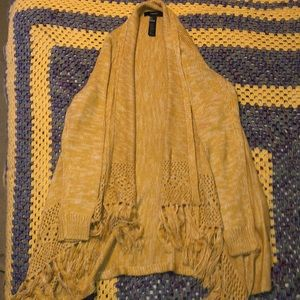 Yellow open front cardigan